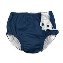 Navy Snap Reusable Swimsuit Diaper