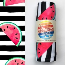Hooded UPF 50+ Sunscreen Towel - Watermelons