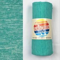 Hooded UPF 50+ Sunscreen Towel - Mint Heather