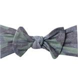 Copper Pearl Knit Headband Bow- Hunter