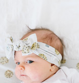 Copper Pearl Knit Headband Bow- Chip