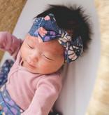 Copper Pearl Knit Headband Bow- Meadow
