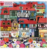 eeBoo Whimsical Village 1000pc Puzzle
