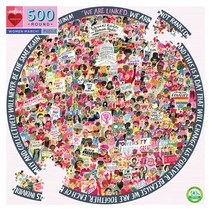 Women March! 500pc Round Puzzle