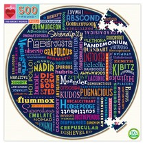 100 Great Words 500pc Round Puzzle