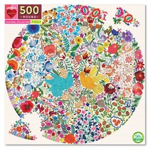 Blue Bird Yellow Bird 500pc Round Puzzle