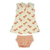 Organic Flamingo Dress Set