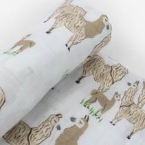 Cotton Muslin Swaddle: Llama Llama