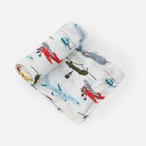 Deluxe Cotton Muslin Swaddle: Air Show
