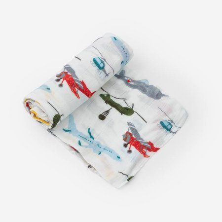 Little Unicorn Deluxe Cotton Muslin Swaddle: Air Show