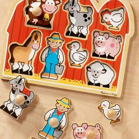 Melissa & Doug Large Farm Jumbo Knob Puzzle