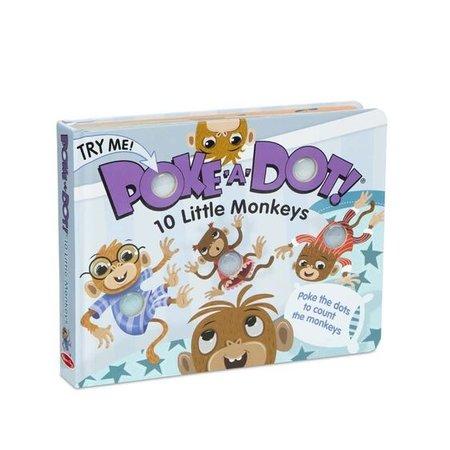 Melissa & Doug Poke-a-Dot 10 Little Monkeys Book