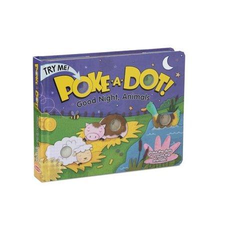 Melissa & Doug Poke-a-Dot Good Night, Animals Book