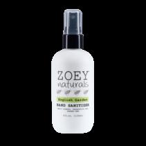 Zoey Naturals English Garden Hand Sanitizer 4oz