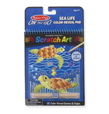 Melissa & Doug Sealife Color-Reveal Scratch Art Pad
