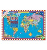 eeBoo World Map 100pc Puzzle