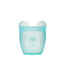 Silicone Baby Snack Container- Teal Bear