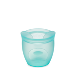 Zip Top Silicone Baby Snack Container- Teal Bear