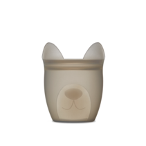 Silicone Baby Snack Container- Gray Dog