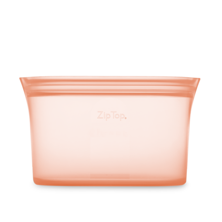 Zip Top Large Silicone Dish- Peach