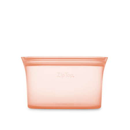 Zip Top Medium Silicone Dish- Peach