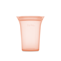 Large Silicone Storage Cup- Peach