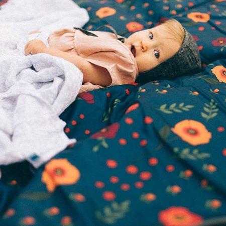 Little Unicorn 5x7 Outdoor Blanket: Midnight Poppy