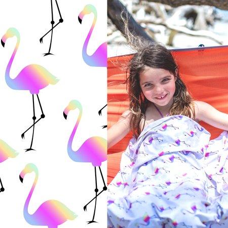 Luv Bug Co. Hooded UPF 50+ Sunscreen Towel - Flamingo