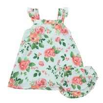 Angel Dear Rose Garden Muslin Dress + Diaper Cover