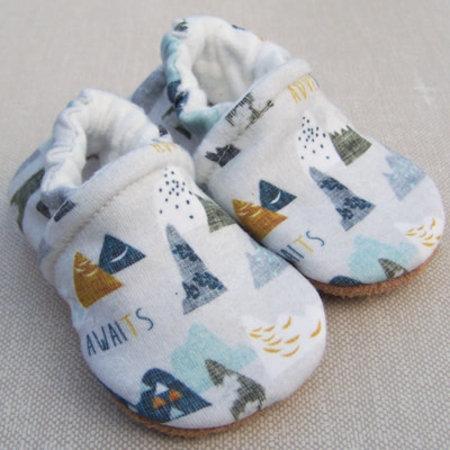 Snow & Arrow Organic Cotton Slippers Adventure Awaits