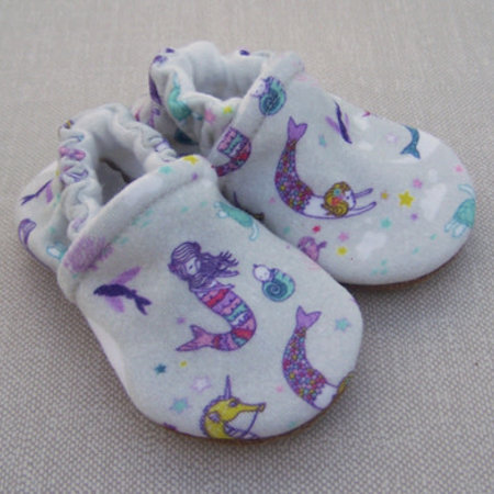 Snow & Arrow Organic Cotton Slippers Mermaid