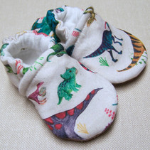 Organic Cotton Slippers Dino Might
