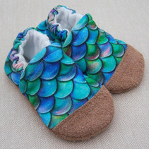 Organic Cotton Slippers Mermaid Scales