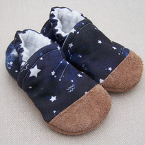 Organic Cotton Slippers Night Sky
