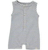 Me & Henry Blue/White Striped Woven Playsuit