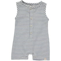 Blue/White Striped Woven Playsuit