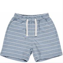 Blue/White Stripe Jersey Shorts