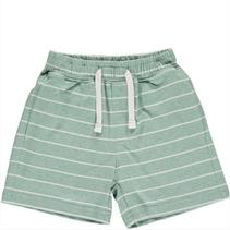 Green/White Stripe Jersey Shorts