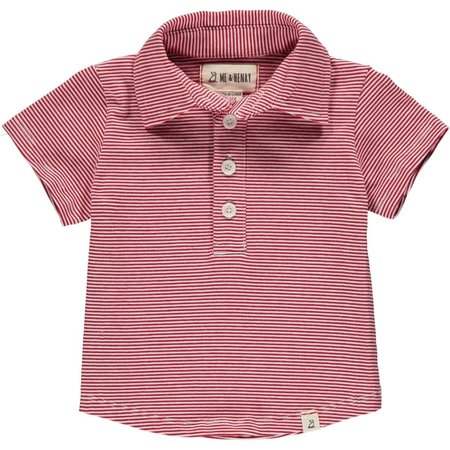 Me & Henry Red/White Stripe Polo