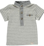 Me & Henry Grey/White Stripe Henley