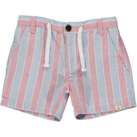 Me & Henry Blue/Red Striped Shorts 4-5 years