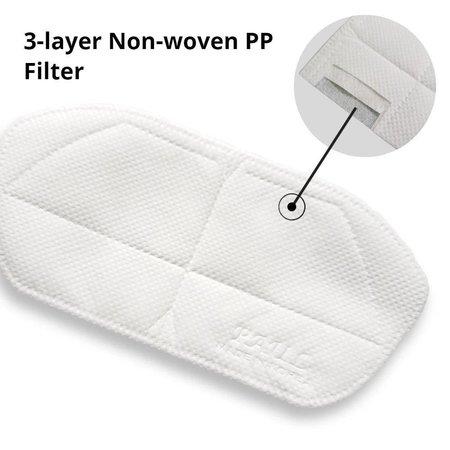 Komuello 3 Layer Non-Woven PP Kids Mask Filter 10pk