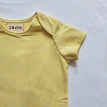 Cotton Bodysuit- Yellow Mini Stripe