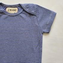 Cotton Bodysuit- Navy Mini Stripe