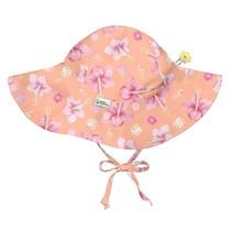 Coral Hibiscus Brim Sun Protection Hat