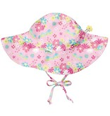 iplay Light Pink Dragonfly Floral Brim Sun Protection Hat by i play