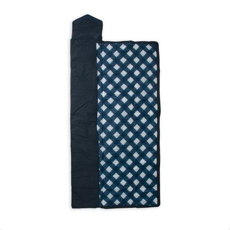 Little Unicorn 5x7 Outdoor Blanket: Navy Plaid