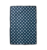 Little Unicorn 5x7 Outdoor Blanket: Navy Plaid