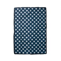 5x7 Outdoor Blanket: Navy Plaid