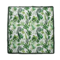 5x5 Outdoor Blanket: Tropical Leaf